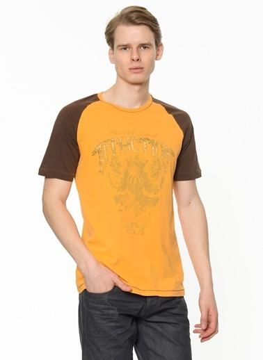 Limon Company Baskılı Bisiklet Yaka Erkek Tshirt Renksiz